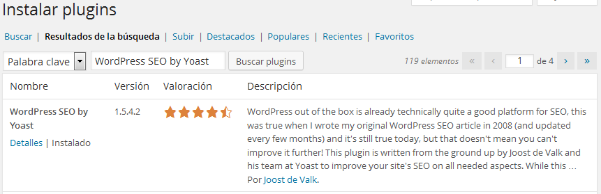 WordPress SEO by Yoast Instalacion