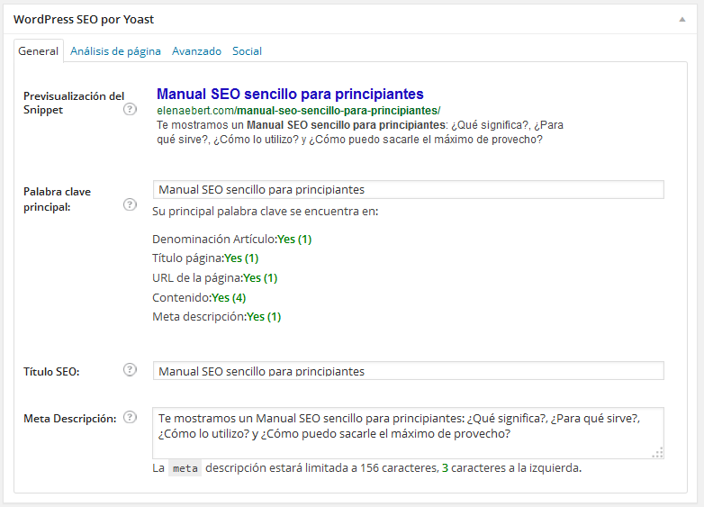 Configurar plugin WordPress SEO by Yoast