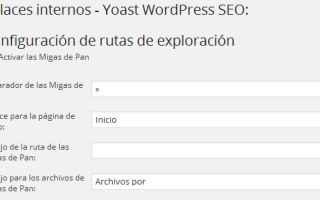 Configurar plugin Yoast WordPress SEO – Enlaces Internos